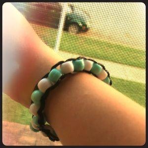 Jewelry - a beaded rainbow loom bracelet